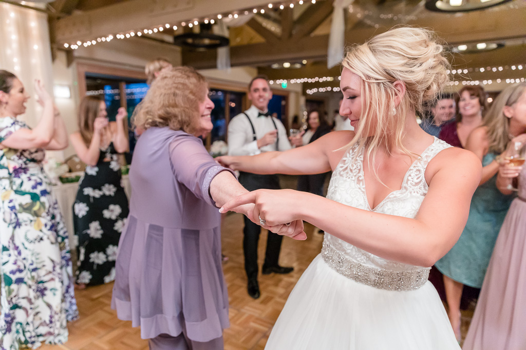 bride dancing with grandma