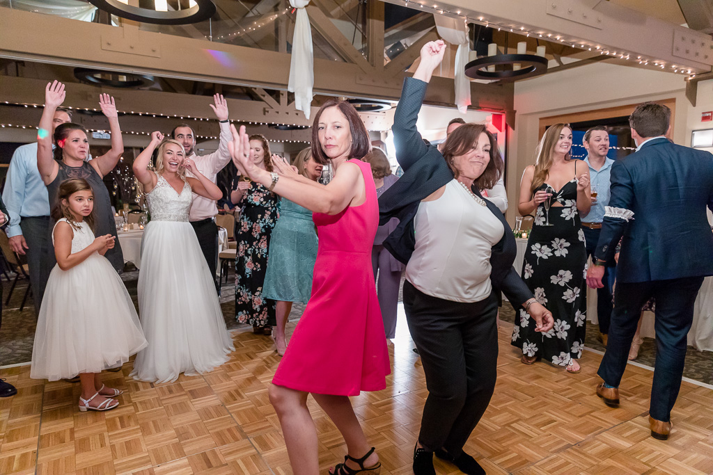 guests having fun at wedding reception
