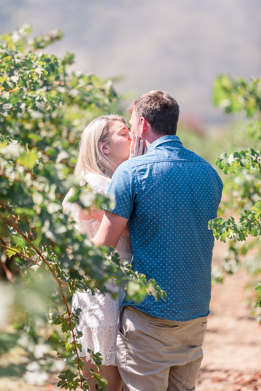 they got engagement here in the Napa valley