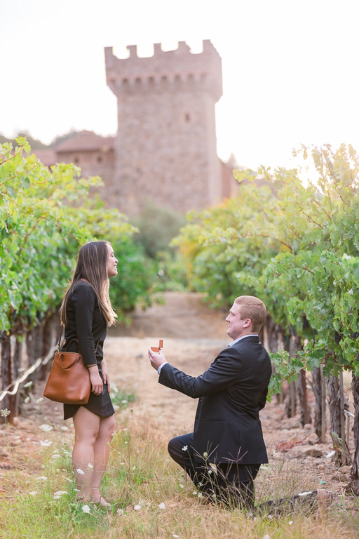 castello di amorosa is the most beautiful place to get engaged in Napa