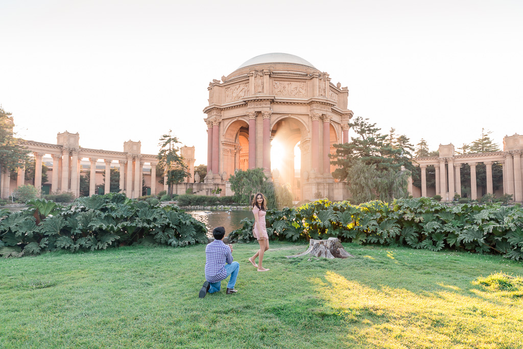 San Francisco iconic surprise proposal location - Palace of Fine Arts