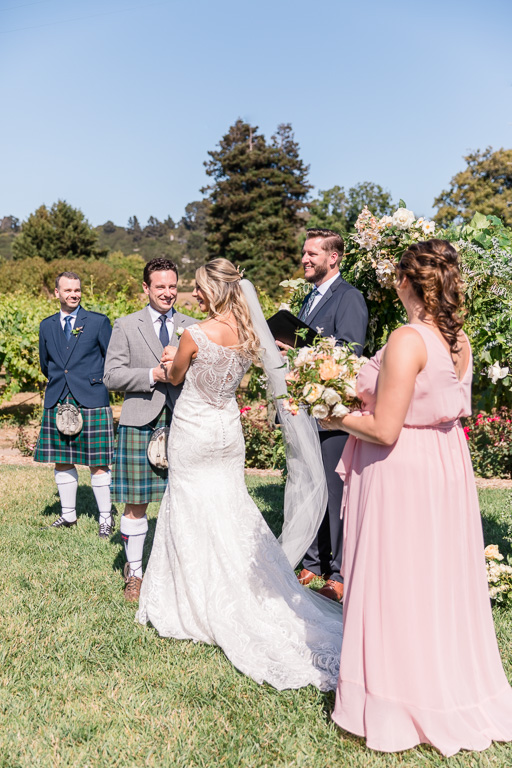 a wedding ceremony filled with laughter