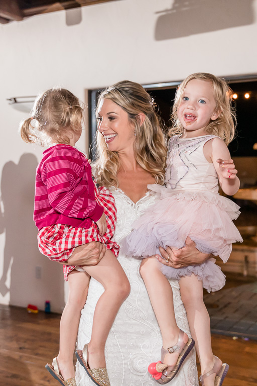 bride loves kids and you can tell