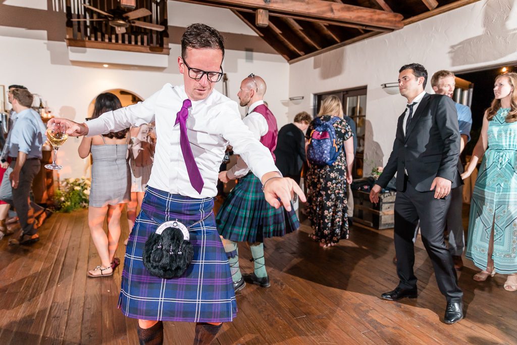 Scottish guests owning the dance floor