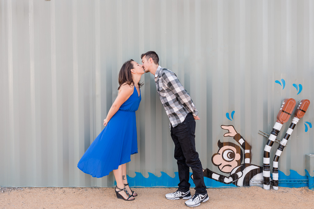 San Francisco cute and funny urban engagement photo
