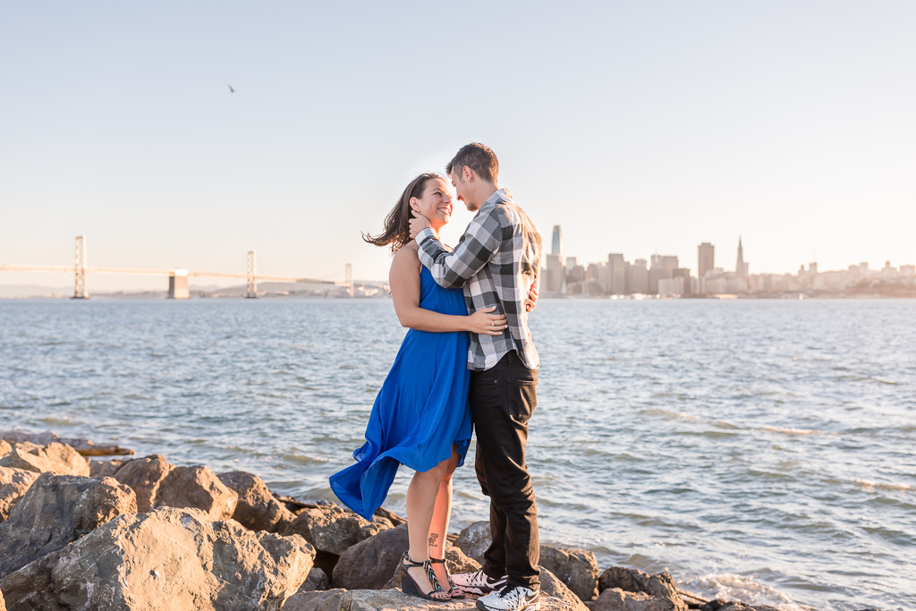 San Francisco city skyline engagement photo
