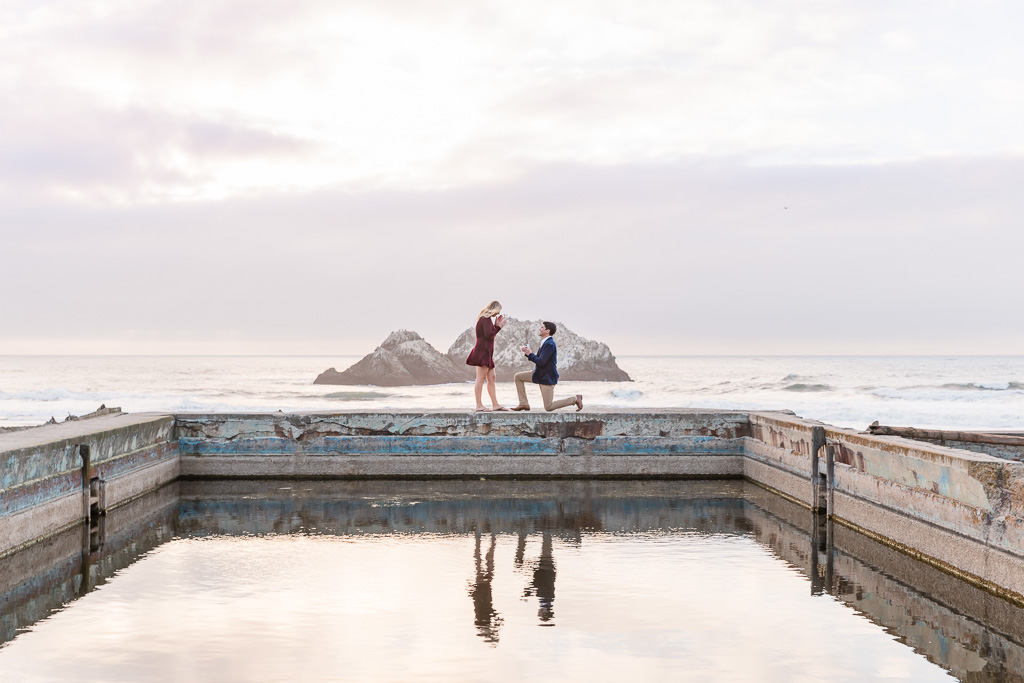 san francisco lands end surprise engagement