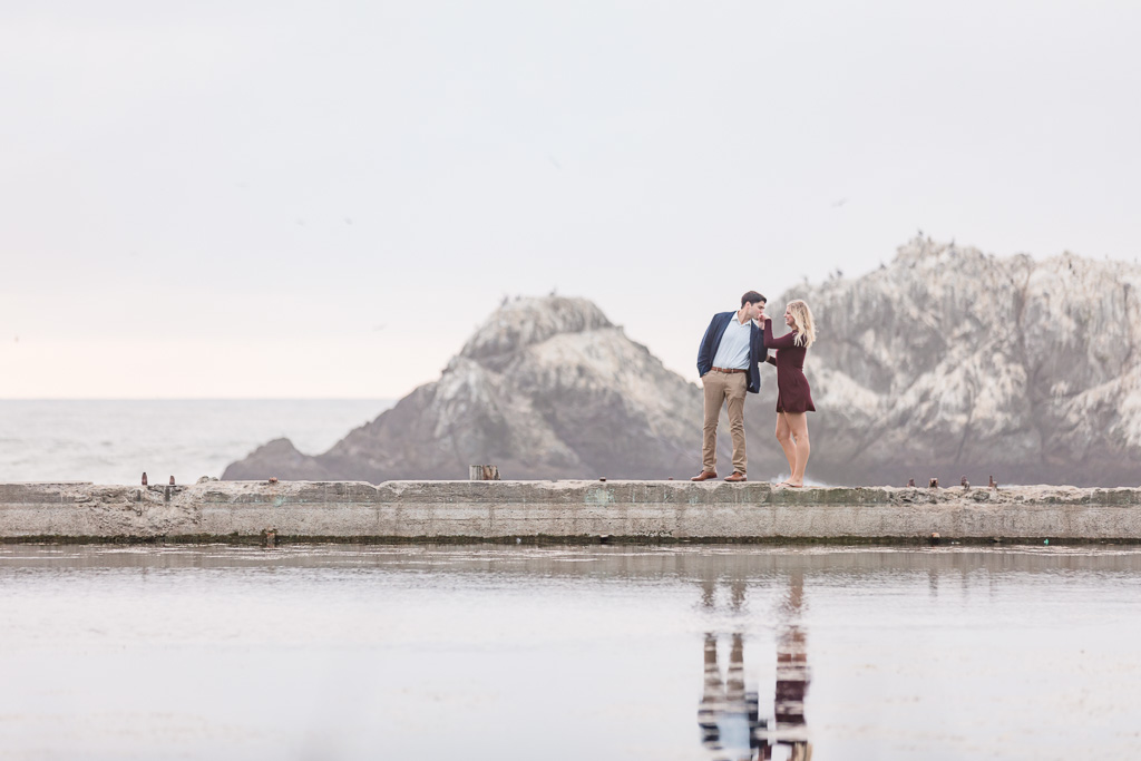 sweet moment when he kissed her on the hand - lands end proposal