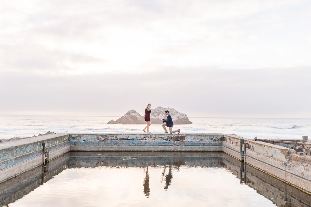 sutro baths surprise proposal by the water