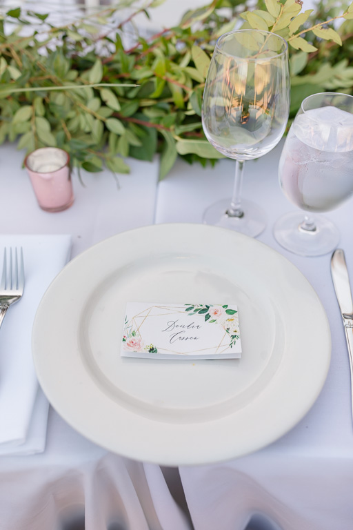 reception dinner place setting