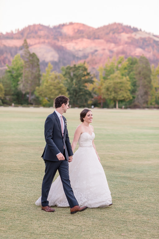 Santa Rosa wedding on open field with rolling hills