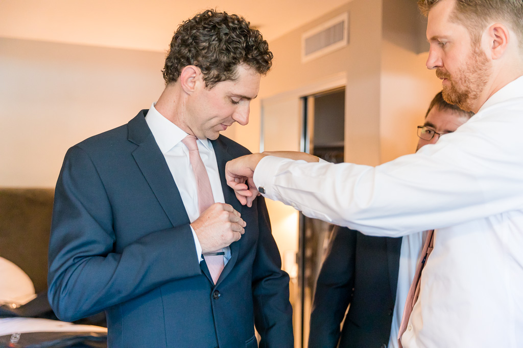fixing groom's pocket square