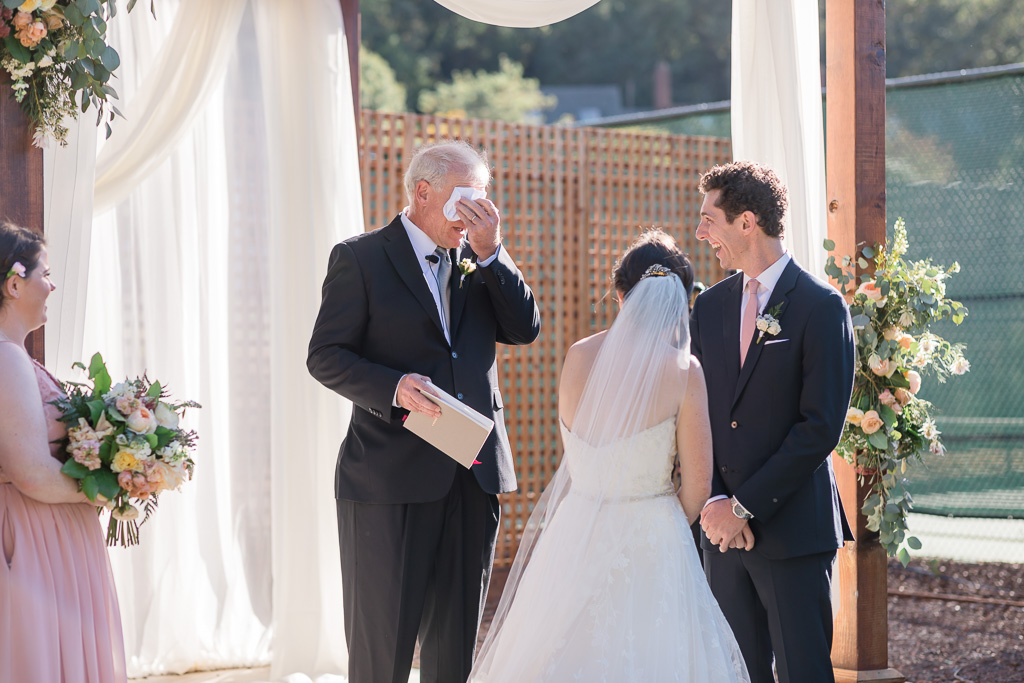 officiant cried during this Santa Rosa outdoor ceremony