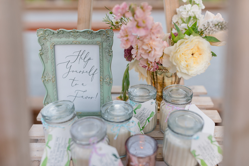 Wild Oak Saddle Club elegant DIY wedding details - scented candles handmade by the bride