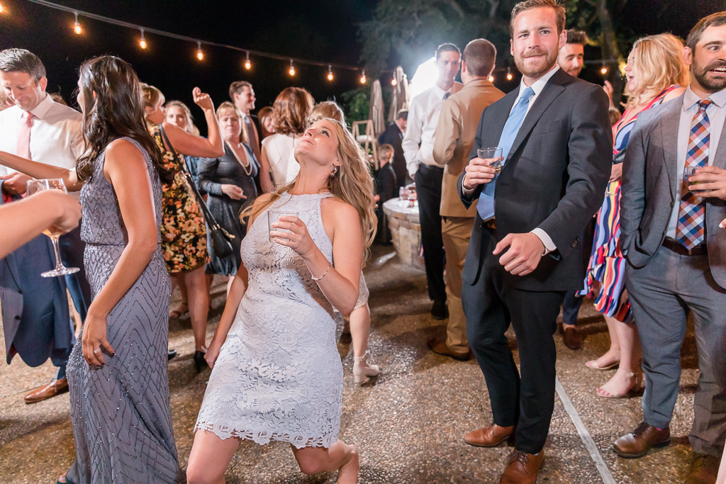 open dance party at the wedding