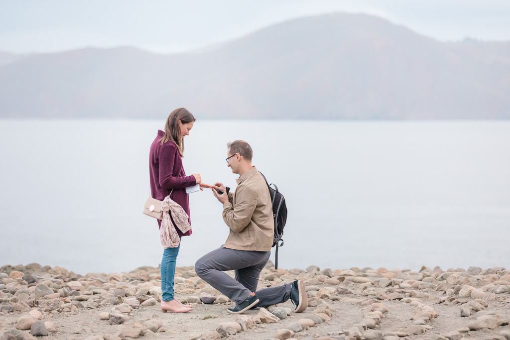 secluded and romantic proposal spot in San Francisco