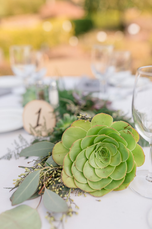 succulents wedding reception table centerpieces