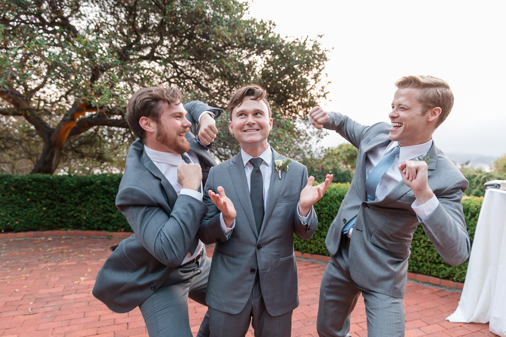 funny photo of groom and groomsmen