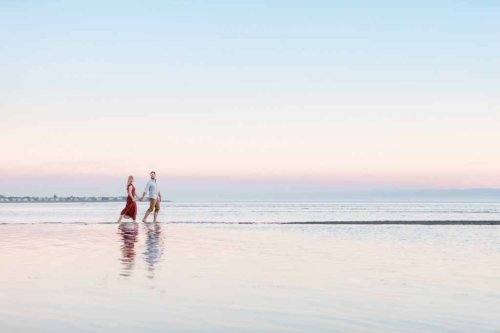 best San Francisco sunset beach engagement photo