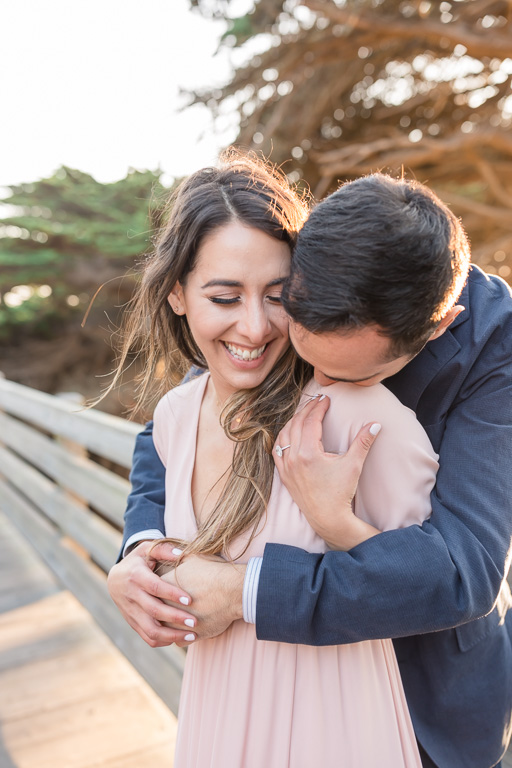Ritz-Carlton engagement picture with dreamy light