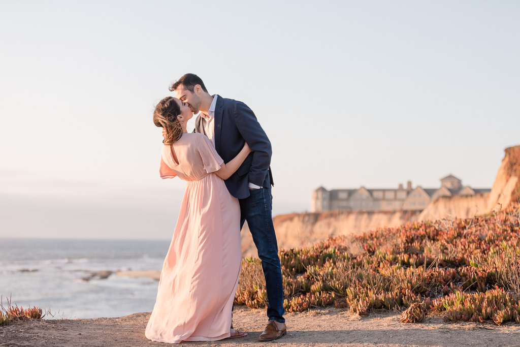 Half Moon Bay Ritz-Carlton sunset engagement