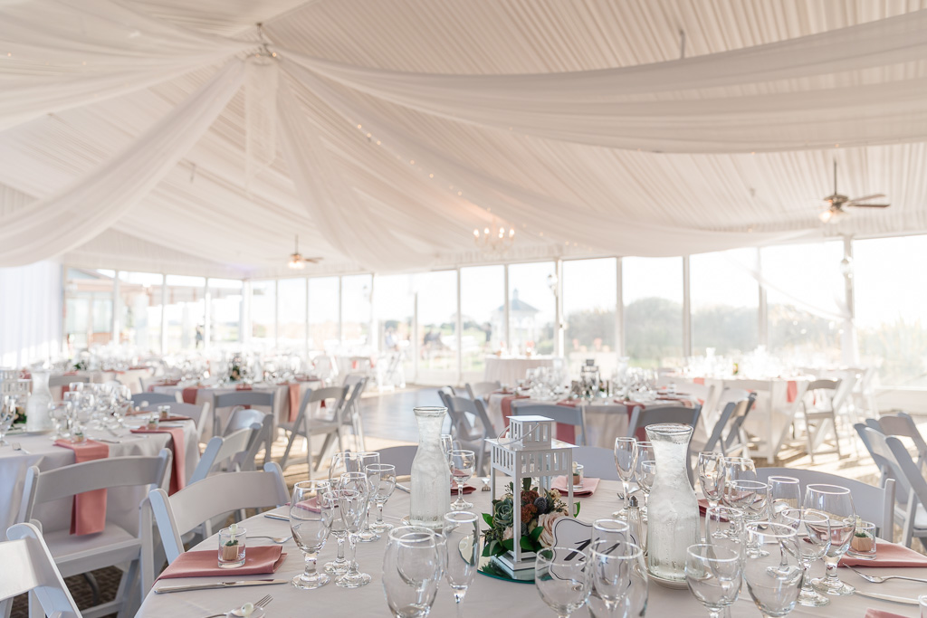 Fairview Metropolitan wedding tent interior