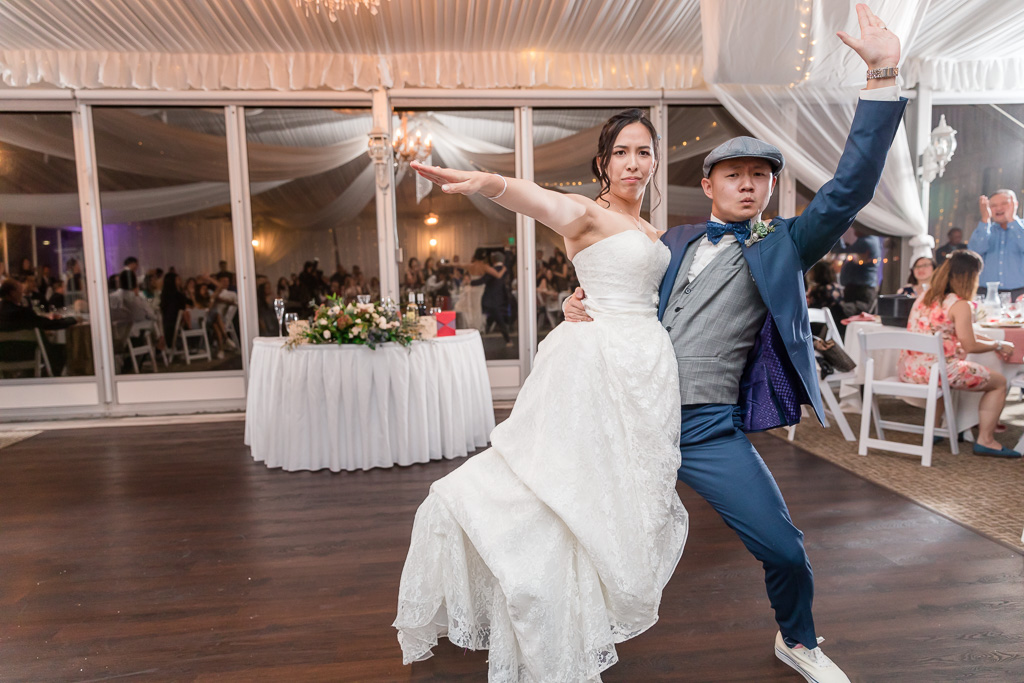 Monica and Ross Friends dance routine performed at wedding