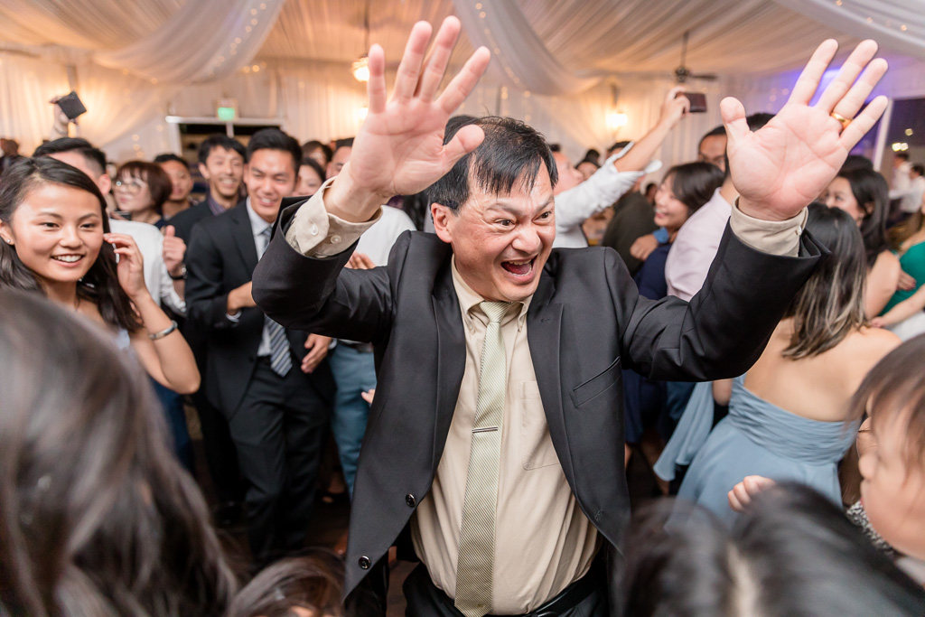 wedding guest having a great time dancing through the night