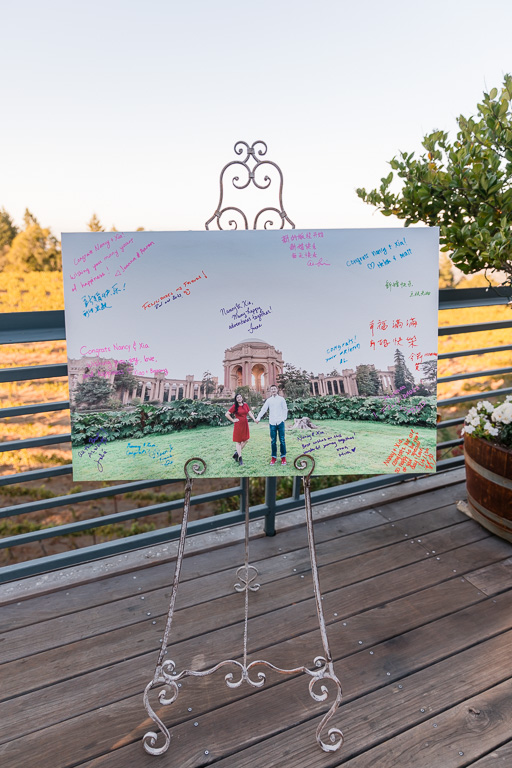wedding guest sign-in canvas