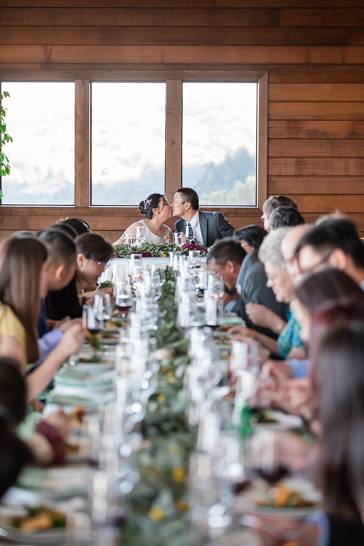small and intimate wedding at Thomas Fogarty Winery
