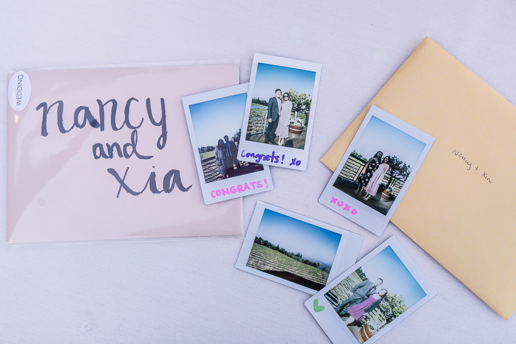 instax photos taken by wedding guests