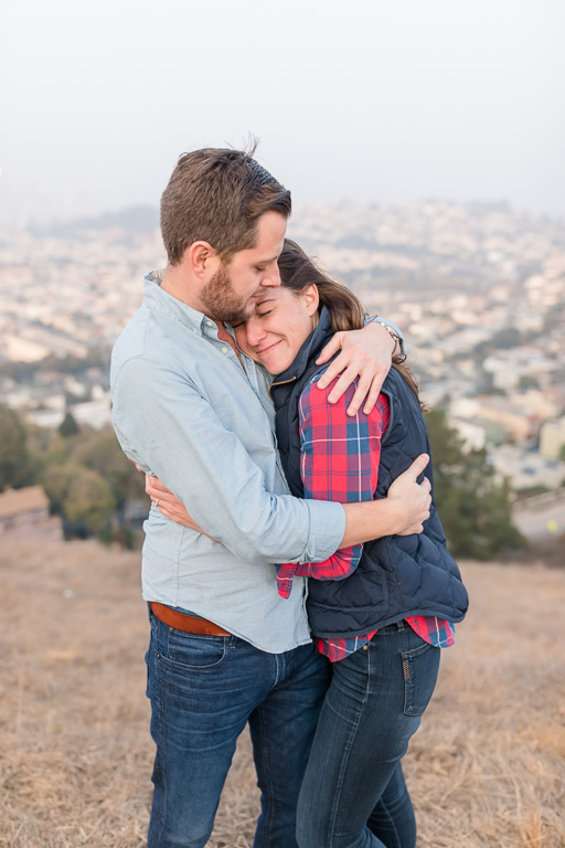 genuine emotions flowing in this photo after this San Francisco surprise proposal