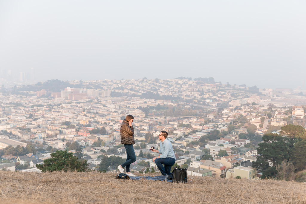 San Francisco Bernal Heights surprise proposal