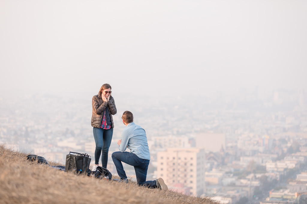 Bernal Heights surprise engagement proposal