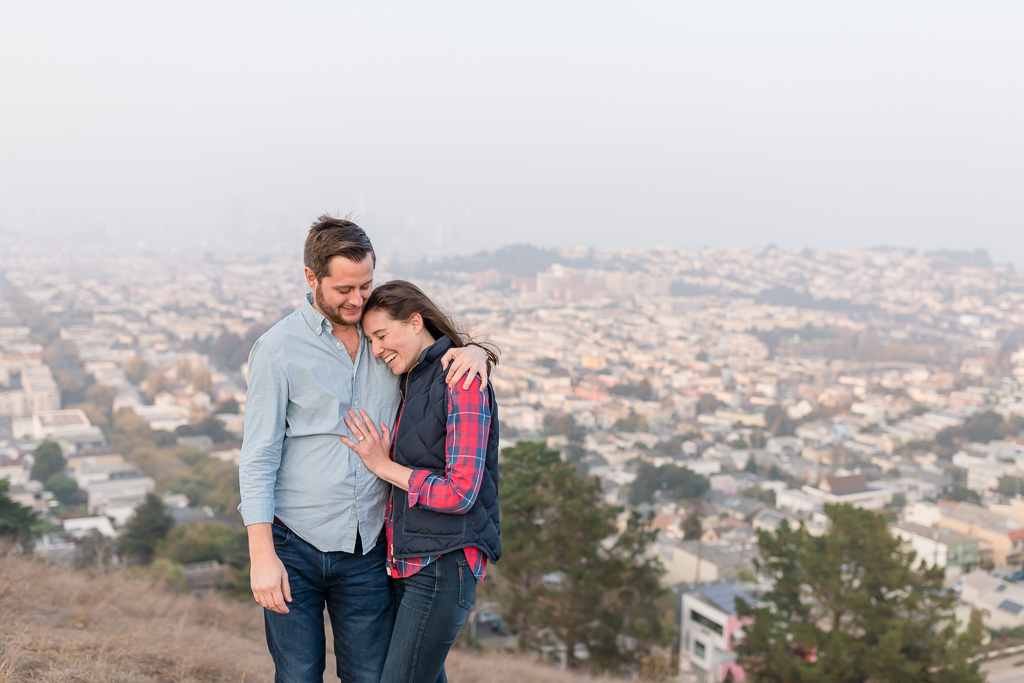 San Francisco Bernal Heights engagement photo