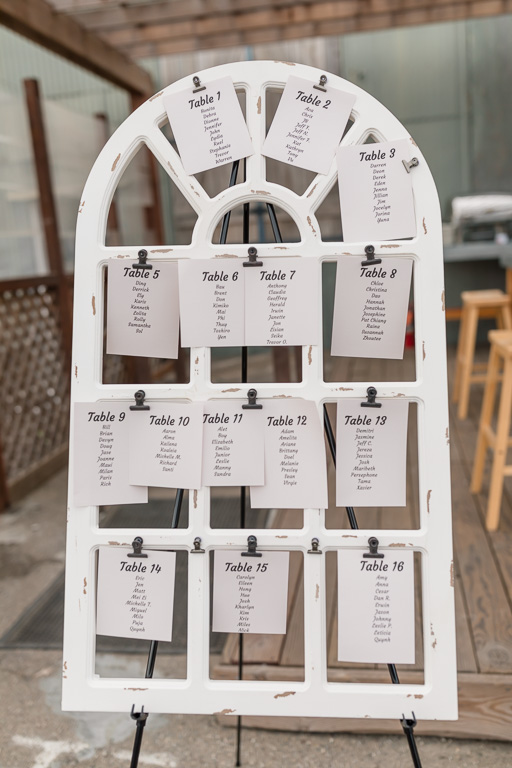 wedding guest table seating chart