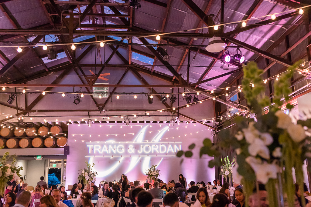 wedding reception at The Winery SF