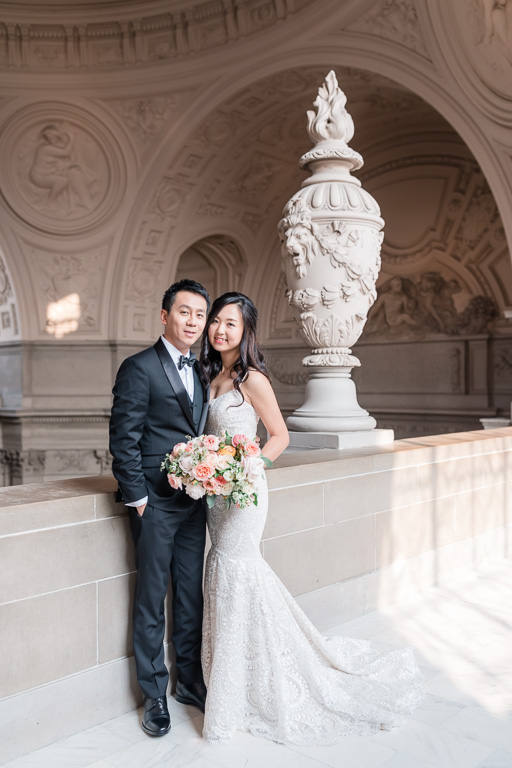 elegant and timeless wedding portrait at San Francisco City Hall