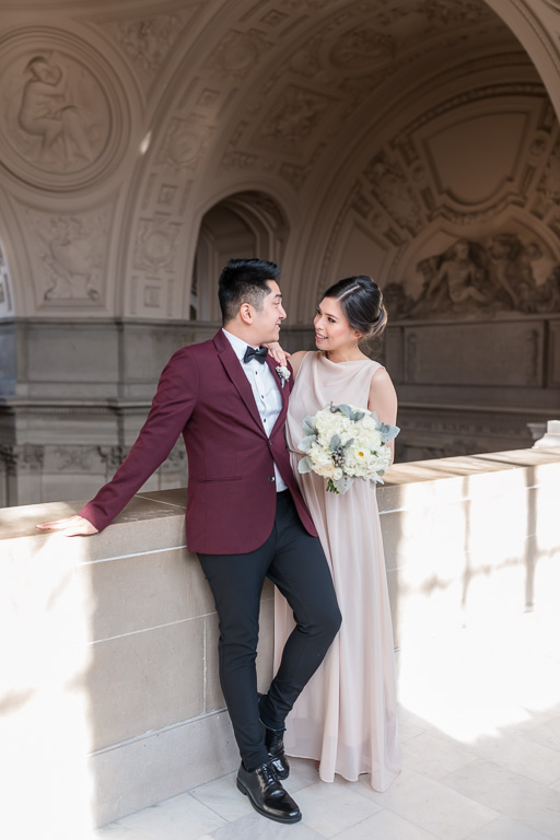newlyweds at San Francisco city hall