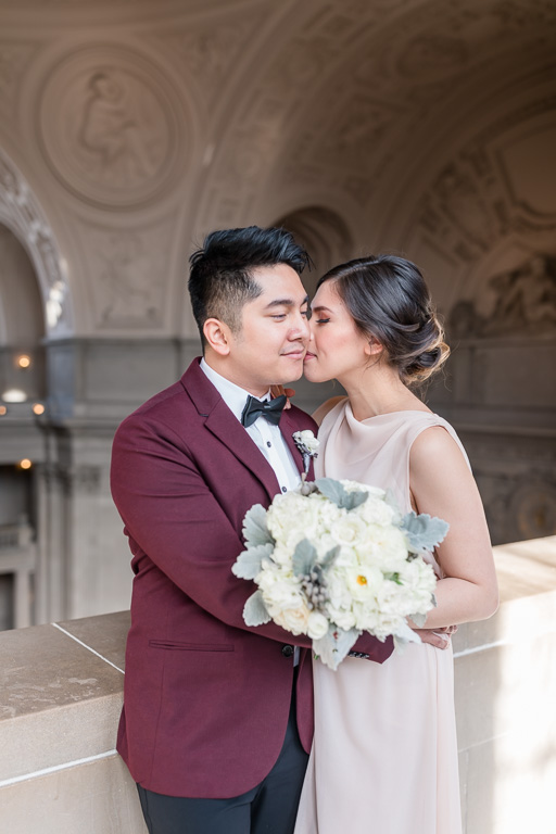 San Francisco city hall elopement portrait