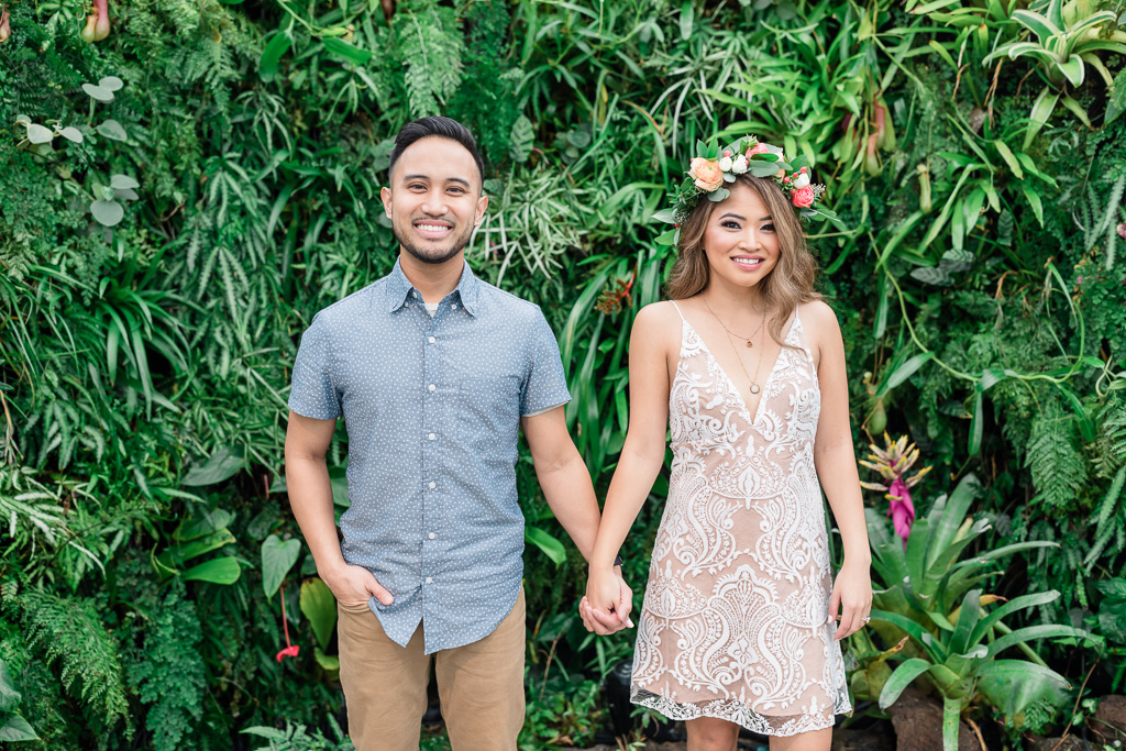 San Francisco conservatory of flowers engagement photo