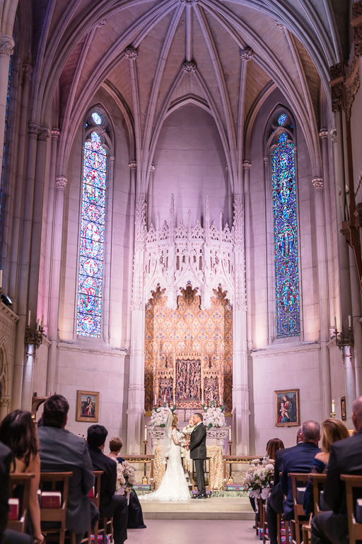 Grace chapel wedding ceremony inside the Grace Cathedral