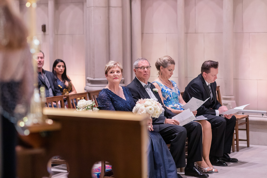 parents of the bride during the ceremony