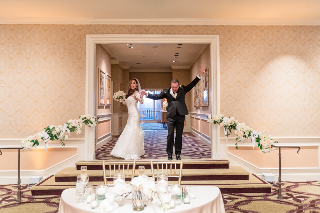 newlyweds made their reception grand entrance