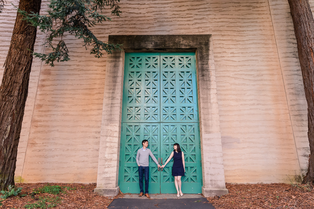 Palace of Fine Arts big green door save the date