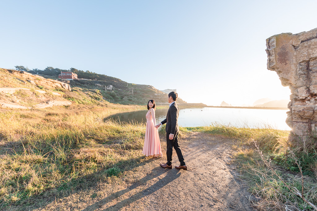 Sutro Baths ruins save the date photo