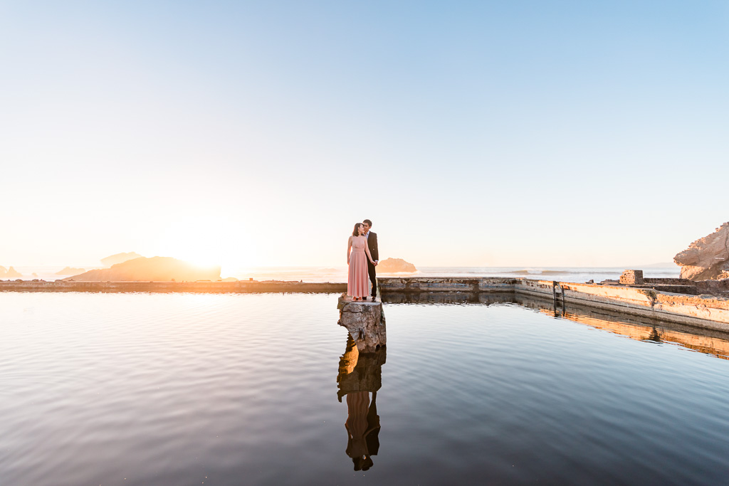 San Francisco save the date sunset water reflection photo
