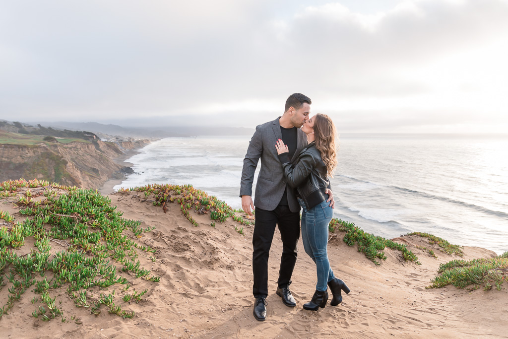 She said yes by the beautiful cliffside of the Pacific coastline