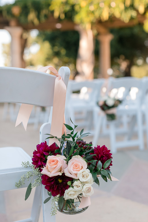 ceremony aisle floral decor
