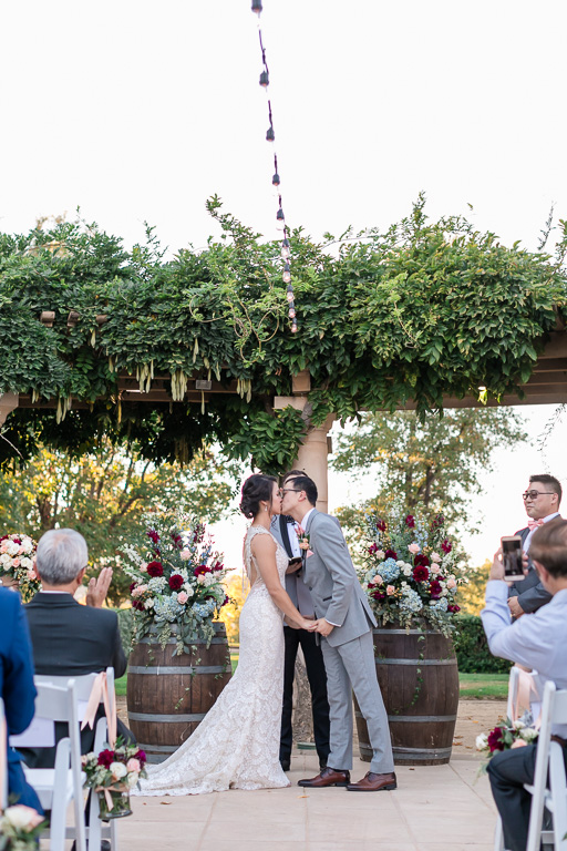 romantic Ruby Hill Golf Club wedding ceremony